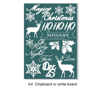 A4  Christmas, 210 x 297. chipboard,white board,pineMin buy 3.